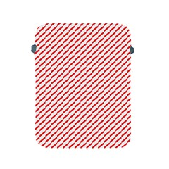 Pattern Red White Background Apple iPad 2/3/4 Protective Soft Cases