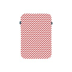 Pattern Red White Background Apple Ipad Mini Protective Soft Cases by Simbadda