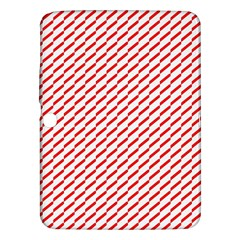 Pattern Red White Background Samsung Galaxy Tab 3 (10 1 ) P5200 Hardshell Case  by Simbadda