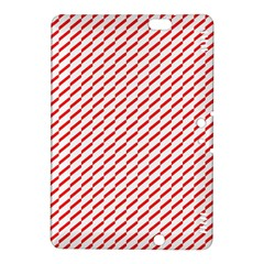Pattern Red White Background Kindle Fire Hdx 8 9  Hardshell Case by Simbadda