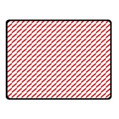Pattern Red White Background Double Sided Fleece Blanket (small)  by Simbadda