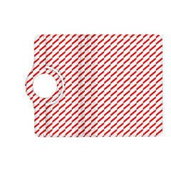 Pattern Red White Background Kindle Fire Hd (2013) Flip 360 Case by Simbadda