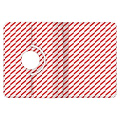Pattern Red White Background Kindle Fire Hdx Flip 360 Case by Simbadda