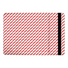 Pattern Red White Background Samsung Galaxy Tab Pro 10 1  Flip Case by Simbadda