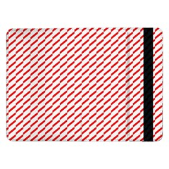 Pattern Red White Background Samsung Galaxy Tab Pro 12 2  Flip Case by Simbadda