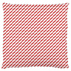 Pattern Red White Background Standard Flano Cushion Case (two Sides) by Simbadda