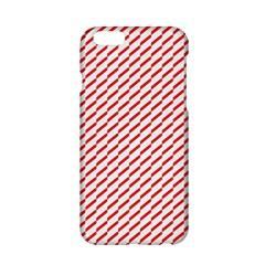 Pattern Red White Background Apple Iphone 6/6s Hardshell Case by Simbadda