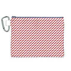 Pattern Red White Background Canvas Cosmetic Bag (xl) by Simbadda