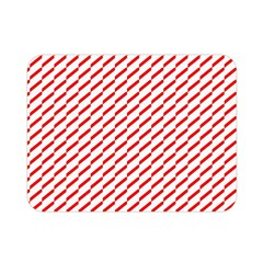 Pattern Red White Background Double Sided Flano Blanket (mini)  by Simbadda