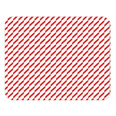 Pattern Red White Background Double Sided Flano Blanket (large)  by Simbadda