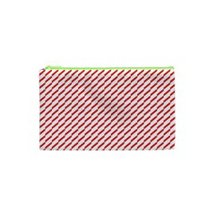 Pattern Red White Background Cosmetic Bag (xs) by Simbadda