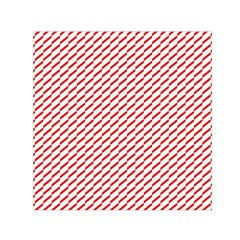 Pattern Red White Background Small Satin Scarf (square) by Simbadda