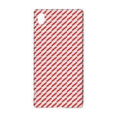 Pattern Red White Background Sony Xperia Z3+ by Simbadda