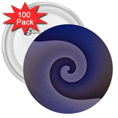 Logo Wave Design Abstract 3  Buttons (100 Pack)