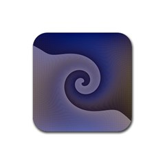 Logo Wave Design Abstract Rubber Square Coaster (4 Pack)  by Simbadda