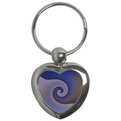 Logo Wave Design Abstract Key Chains (heart)  by Simbadda