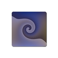 Logo Wave Design Abstract Square Magnet by Simbadda