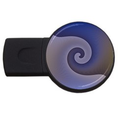 Logo Wave Design Abstract Usb Flash Drive Round (2 Gb) by Simbadda