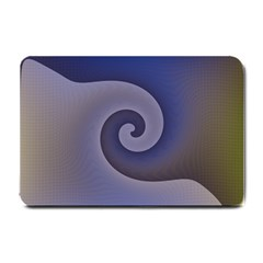 Logo Wave Design Abstract Small Doormat  by Simbadda