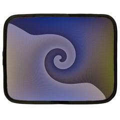 Logo Wave Design Abstract Netbook Case (large) by Simbadda