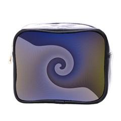Logo Wave Design Abstract Mini Toiletries Bags by Simbadda