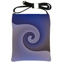 Logo Wave Design Abstract Shoulder Sling Bags by Simbadda