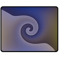 Logo Wave Design Abstract Fleece Blanket (medium)  by Simbadda