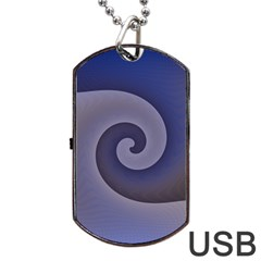 Logo Wave Design Abstract Dog Tag Usb Flash (one Side) by Simbadda