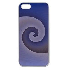 Logo Wave Design Abstract Apple Seamless Iphone 5 Case (clear) by Simbadda