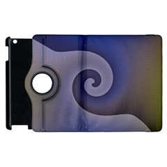 Logo Wave Design Abstract Apple Ipad 2 Flip 360 Case by Simbadda