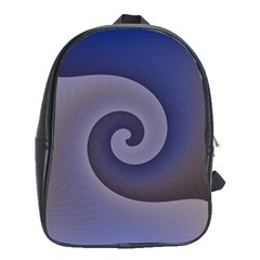 Logo Wave Design Abstract School Bags (xl)  by Simbadda