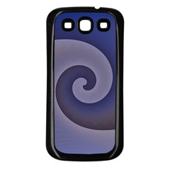 Logo Wave Design Abstract Samsung Galaxy S3 Back Case (black) by Simbadda