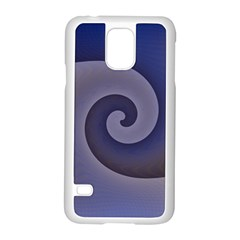 Logo Wave Design Abstract Samsung Galaxy S5 Case (white) by Simbadda