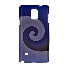 Logo Wave Design Abstract Samsung Galaxy Note 4 Hardshell Case by Simbadda