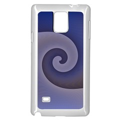 Logo Wave Design Abstract Samsung Galaxy Note 4 Case (white) by Simbadda