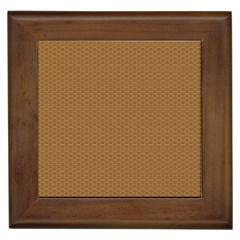 Pattern Honeycomb Pattern Brown Framed Tiles by Simbadda