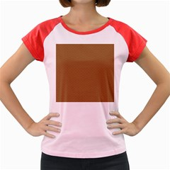 Pattern Honeycomb Pattern Brown Women s Cap Sleeve T Shirt by Simbadda
