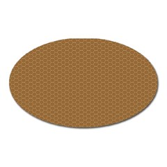 Pattern Honeycomb Pattern Brown Oval Magnet by Simbadda