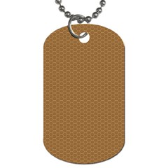 Pattern Honeycomb Pattern Brown Dog Tag (one Side) by Simbadda