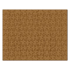 Pattern Honeycomb Pattern Brown Rectangular Jigsaw Puzzl by Simbadda