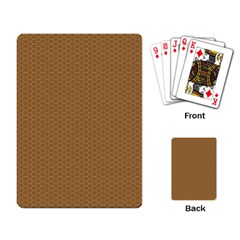 Pattern Honeycomb Pattern Brown Playing Card by Simbadda