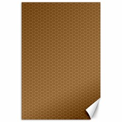 Pattern Honeycomb Pattern Brown Canvas 24  X 36  by Simbadda