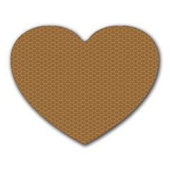 Pattern Honeycomb Pattern Brown Heart Mousepads by Simbadda