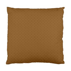 Pattern Honeycomb Pattern Brown Standard Cushion Case (one Side) by Simbadda