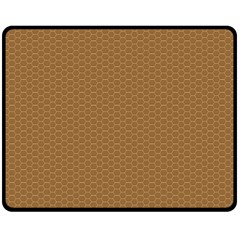 Pattern Honeycomb Pattern Brown Fleece Blanket (medium)  by Simbadda