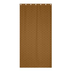 Pattern Honeycomb Pattern Brown Shower Curtain 36  X 72  (stall)  by Simbadda