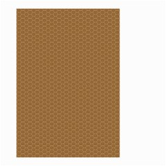 Pattern Honeycomb Pattern Brown Small Garden Flag (two Sides) by Simbadda