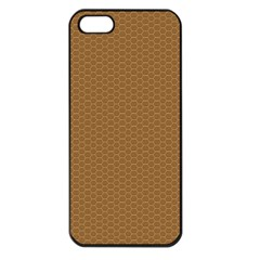 Pattern Honeycomb Pattern Brown Apple Iphone 5 Seamless Case (black) by Simbadda
