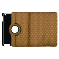 Pattern Honeycomb Pattern Brown Apple Ipad 3/4 Flip 360 Case by Simbadda