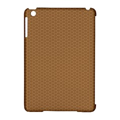 Pattern Honeycomb Pattern Brown Apple Ipad Mini Hardshell Case (compatible With Smart Cover) by Simbadda